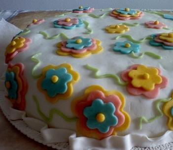 Ricetta torta con cioccolato plastico