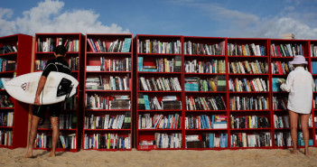 IKEA Create World's Longest Outdoor Bookcase On Bondi Beach