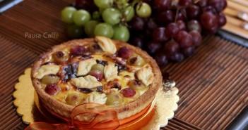Crostata con crema cotta ed uva (10) F