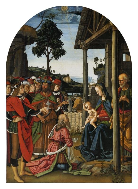 Pietro Perugino, L'Adorazione dei Magi, dipinto olio su tavola (241 x 180 cm), , databile, a seconda degli studi, al 1470-1473 o al 1476 circa e conservata nella Galleria Nazionale dell'Umbria di Perugia.