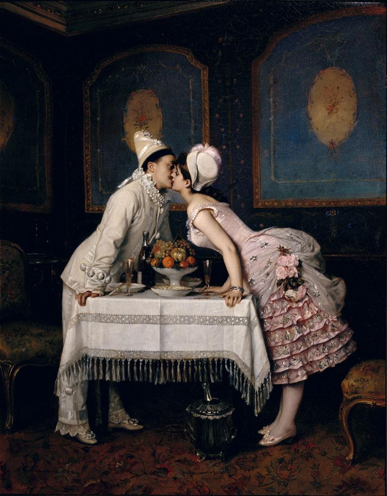 Auguste-Toulmouche,-''Il-bacio''-