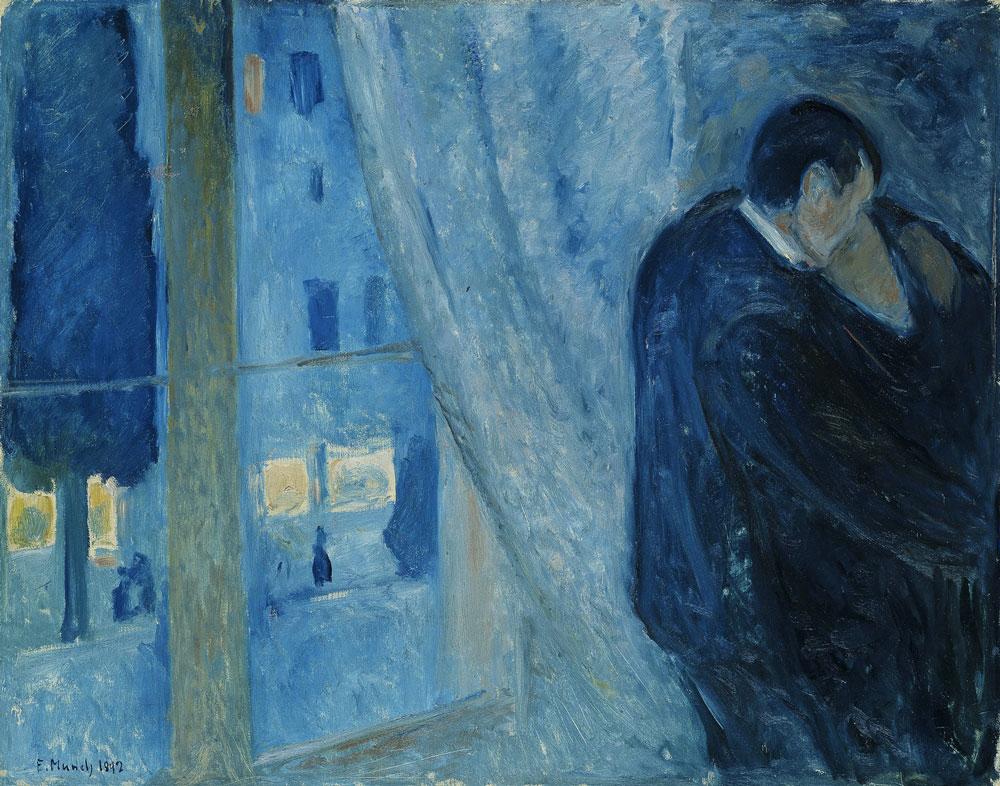 Edvard-Munch,-''Bacio-alla-finestra''-