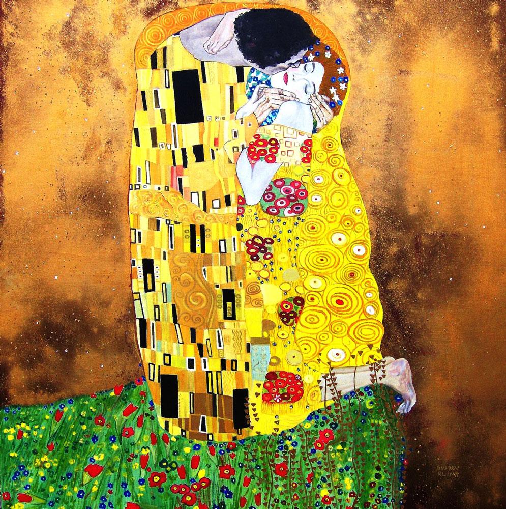 Gustav-Klimt,-''Il-bacio''-