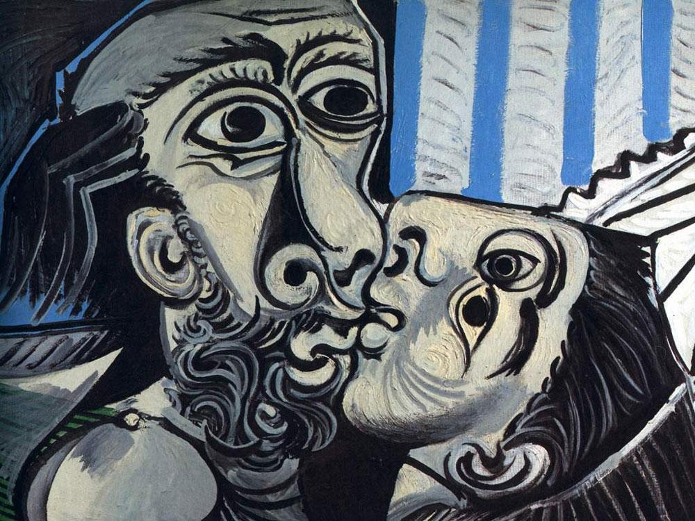 Pablo-Picasso,-''Il-bacio''-