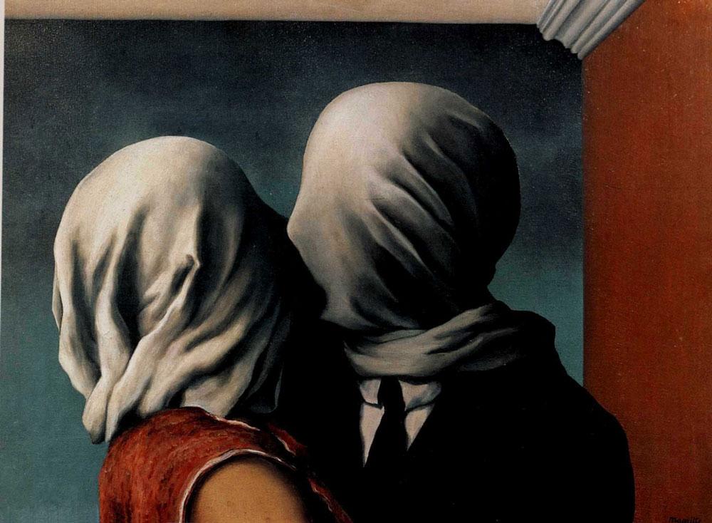 René-Magritte-,-''Gli-amanti''-