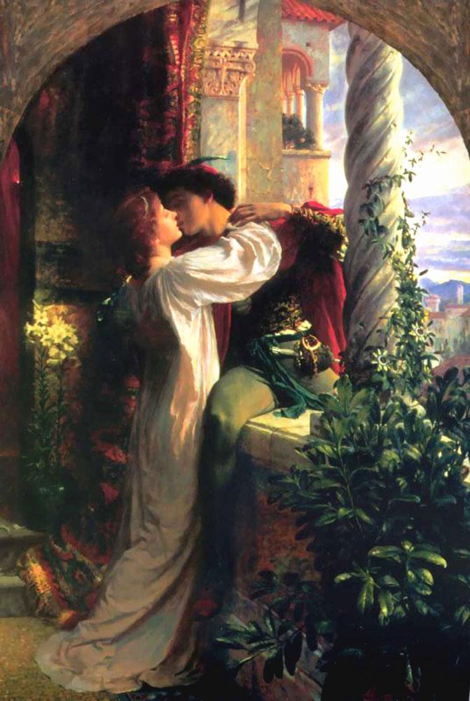 Sir-Frank-Dicksee,-''Romeo-e-Giulietta''-