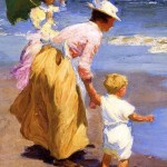 Edward Henry Potthast  - Detail At the Beach