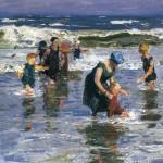 Edward Henry Potthast - In the Surf