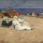 Edward Henry Potthast - Ladies in White Dresses