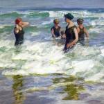 Edward Henry Potthast - Bathers in the Surf
