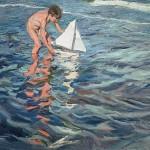 Joaquín Sorolla - The Little Sailing Boat