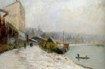 Albert Lebourg Le Seine au Bas Meudon Sun