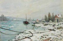 Alfred Sisley Effect of Snow at Saint Cloud 1879y