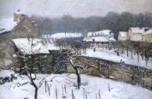 Alfred Sisley Effetto neve a Louveciennes 1876
