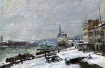 Alfred Sisley Inverno a Marly Le Roi effetto neve 1876