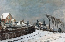 Alfred Sisley Neve a Louveciennes 1873