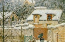 Alfred Sisley Neve a Louveciennes