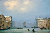 Caffi, Ippolito  Venice, Canale Grande Painting by Caffi