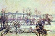 Camille Pissarro Efeito de neve em Eragny 1895