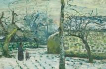 Camille Pissarro Effet de neige à Montfoucault 1874