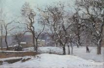 Camille Pissarro Snow a Louveciennes