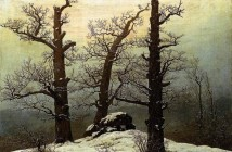 Caspar David Friedrich dolmen-in-snow-1807
