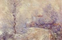 Claude Monet  Entrata di Giverny sotto la neve