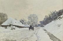 Claude Monet  Il calesse. Strada sotto la neve a Honfleur 1867