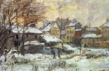 Claude Monet NEVE AL TRAMONTO