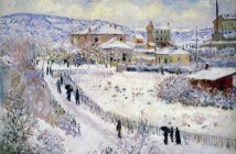 Claude Monet View of Argenteuil in the Snow 1875