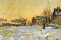 Claude Monet snow-effect-the-street-in-argentuil