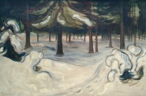 Edvard Munch Winter in the Woods 1899