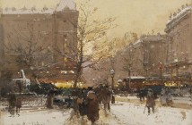 Eugène Galien-Laloue Les-grands-boulevards-Paris