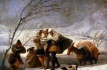 Francisco Goya - La tempesta di neve (1786) - Prado