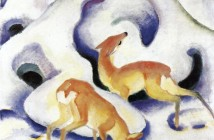 Franz Marc Deer-in-the-snow-1911