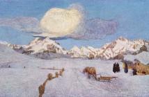 Giovanni Segantini Alpine Triptych Death