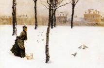 Giuseppe De Nittis A winter's landscape