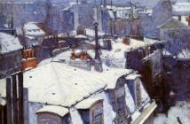 Gustave Caillebotte Tetti sotto la neve 1878