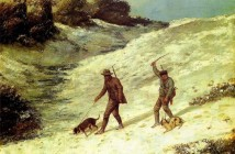Gustave Courbet, Bracconieri nella neve, 1864