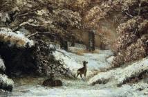 Gustave Courbet Cervo nella neve 1866
