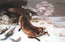 Gustave Courbet La volpe nella neve 1860