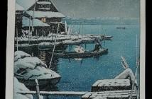 Hasui Kawase snow-at-mukojima-1931