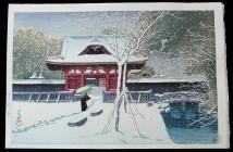 Hasui Kawase snow-at-shiba-park-1931