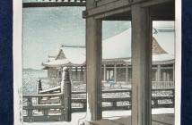 Hasui Kawase snow-fall-at-kiyomizu-temple-kyoto-1932