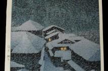 Hasui Kawase snow-storm-at-hatakudari-1946