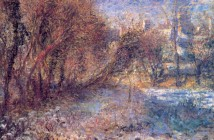 Pierre-Auguste Renoir landscape-with-snow