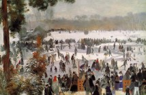 Pierre-Auguste Renoir skaters-in-the-bois-de-boulogne-1868