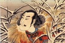 Utagawa Kuniyoshi lingering-snow-at-ishiyama