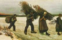 Vincent van Gogh  Portatori di arbusti nella neve 1884