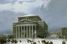 Moskau, Bolschoi-Theater / Litho.um 1840 - Moscow  / Bolshoi Theatre -